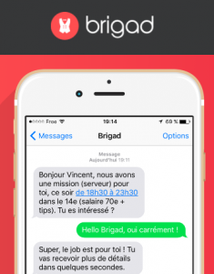 brigad start up restauration sms